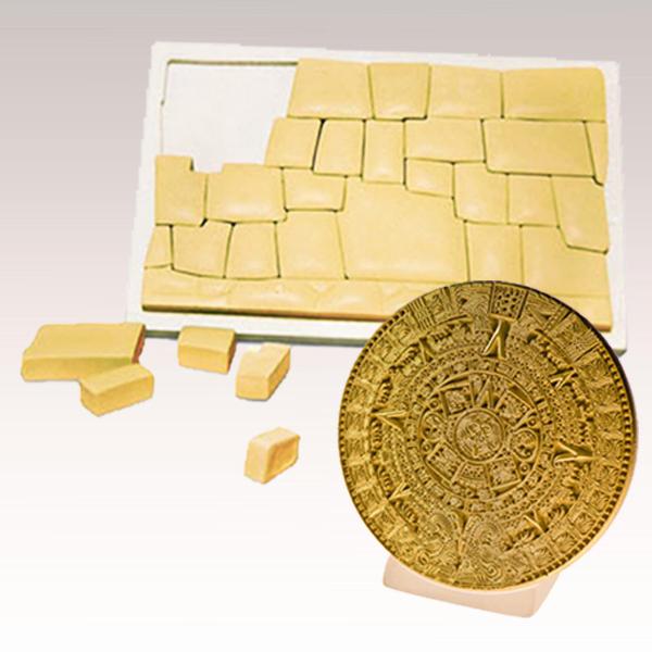 Pack Anciens Bâtisseurs mur de Cuzco et calendrier Maya doré