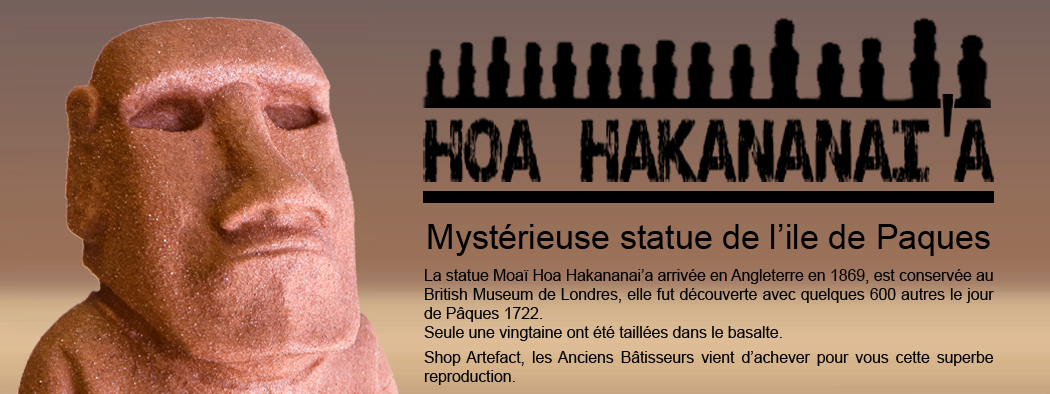 Statue Moaï Hoa-hakananaia