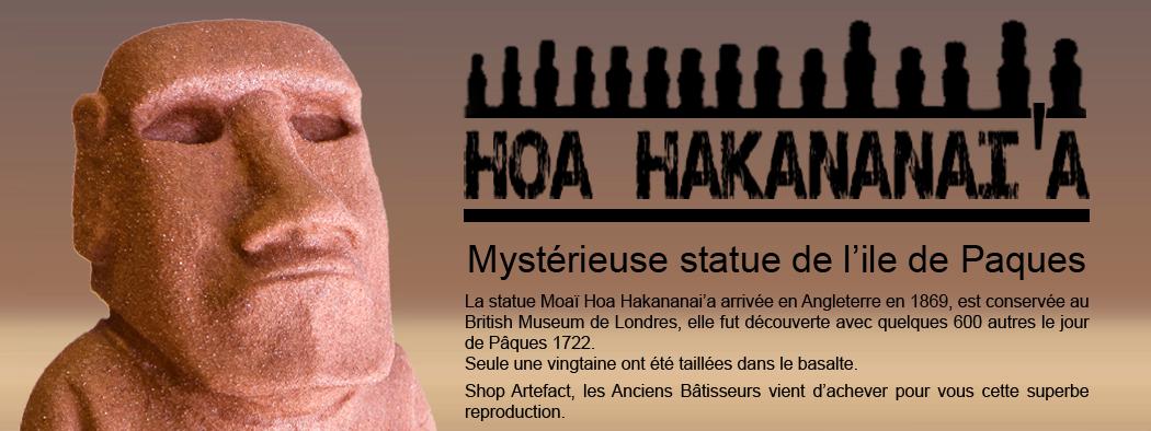 ShopArtefact-Statue Moaï-Hoa hakananaia