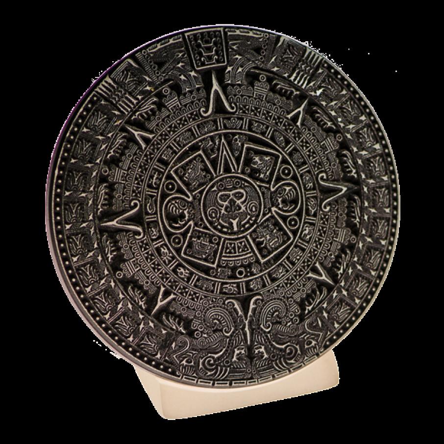 Calendrie Maya sur socle, objet de décoration, noir