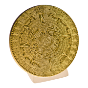 Calendrie Maya sur socle, or