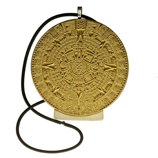 Calendrie Maya, pendentif or
