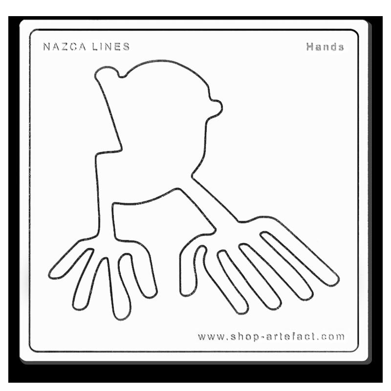 Nazca Lines Hands Photo et design ©Retourney Yannick pour Shop-Artefact.com, les Anciens Bâtisseurs.