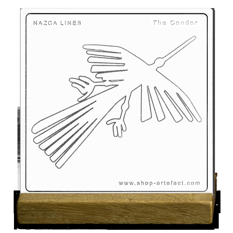 Nazca Lines The Condor Sur socle Photo et design ©Retourney Yannick pour Shop-Artefact.com, les Anciens Bâtisseurs.