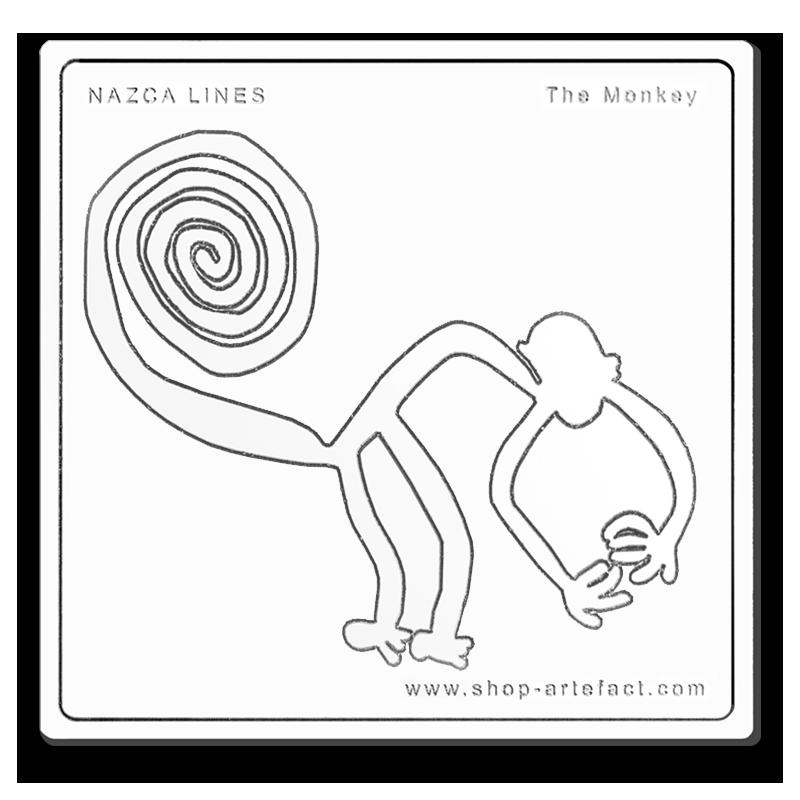 Nazca Lines The Monkey Photo et design ©Retourney Yannick pour Shop-Artefact.com, les Anciens Bâtisseurs.