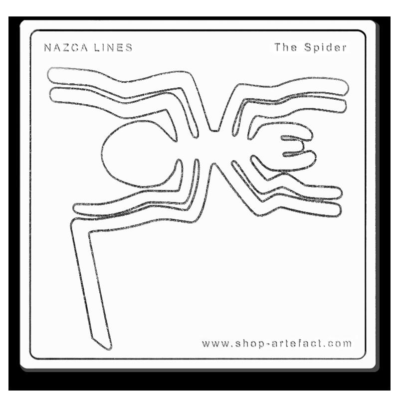 Nazca Lines The Spider Photo et design ©Retourney Yannick pour Shop-Artefact.com, les Anciens Bâtisseurs.